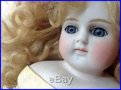 Antique German Turned Bisque Shoulder head Fashion Doll 15 Tall