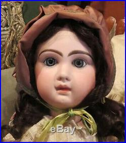 Antique HUGE 30 French Bisque Bebe Incised Tete Jumeau withGreat Outfit & HH Wig