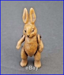 Antique Hertwig Bisque Bunny Rabbit Miniature Doll Jointed German 1910 Germany