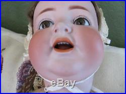 Antique K. R Simon & Halbig 126German Bisque Character baby Doll 25Moving Tongue