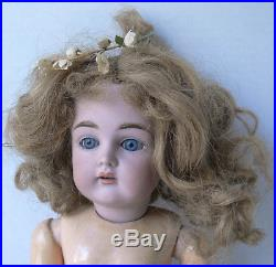 Antique KESTNER #167 bisque head DOLL withjointed body marked GERMANY #1 no reserv