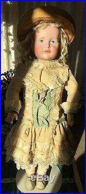 Antique Kammer & Reinhardt 114 Bisque Character Doll Gretchen WithPainted Eyes
