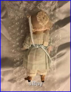 Antique Kestner 184 All Bisque Mignonette Doll with Sleep Eyes and Yellow Boots