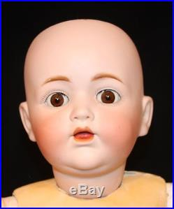 Antique Kestner German Bisque 28 Inch Wobble Tongue Character Toddler Doll 257