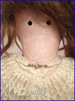 Antique Large Bisque Kley Hahn Dollar Princess Doll With Composition Body