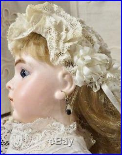 Antique Perfect French Bisque Bru 7 Bebe with Original Signed Body