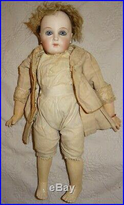 Antique Rare Bebe Early Period Jumeau Almond Eyes Size 1 (16,53 Inches)