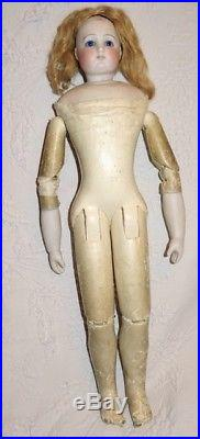 Antique Rare Fashion Doll Barrois Body All Wood Forearm Bisque Perfect (17,71)