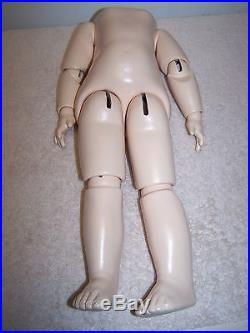 Antique Reproduction 16 Composition Ball Jointed Body for (L) Bisque Doll Head