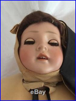Antique Revalo Gebruder Ohlhaver Bisque Compo 23 #3 Doll Germany Nun Outfit