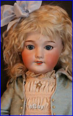 Antique SFBJ 301 Paris French Doll, 20 IN Antique French Bisque Doll, Sleep Eyes