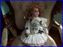 Antique SFBJ French Depose Bisque Doll 22 Tall- French Bebe-Jumeau