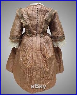 Antique Silk Dress For French Or German Antique Bisque Doll