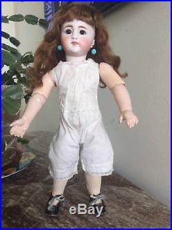 Antique Simon And Halbig 908 Bisque Doll With Closed Mouth On Original Body 14