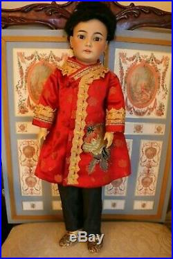 Antique Simon & Halbig 1329 Asian Doll German Bisque Doll 20 IN Antique Doll