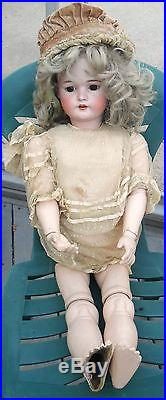 Antique Simon+Halbig 33 Tall Bisque Doll withComposite Jointed Body-DEP 1079/14
