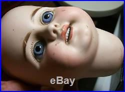 Antique Simon & Halbig Bisque Doll Head withBig Blue Eyes Marked S12H 719 DEP-LOOK
