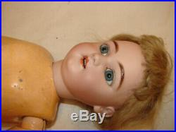 Antique Simon & Halbig German Bisque Head Doll Composition & Wood Jointed Body