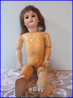 Antique Simon and Halbig 1078 German bisque head doll with composition body