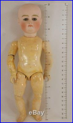 Antique Tiny 10 Pouty Closed Mouth Kestner German Bisque Doll 2 Outfits Ex Cond