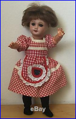 Antique Unis France 301 Bleuette Bisque Composition Sleepy Eyed Character Doll