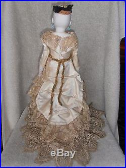 Antique Very Rare French Fashion Type Poupee Bisque Head Doll Swivel Neck 18