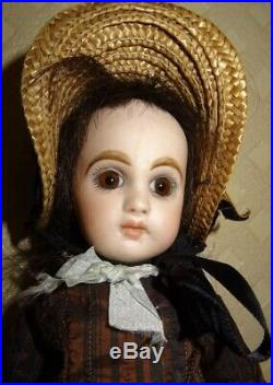 Antique Very Rare Little Bebe Jumeau Closed Mouth Size 1 (9,44 Inches)