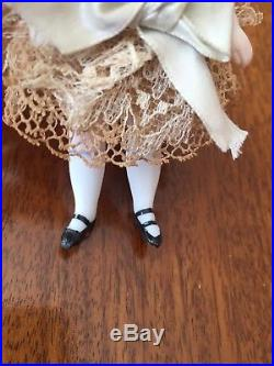 Antique all bisque doll 4 1/2 French mignonette doll Circa 1885