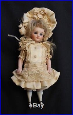 Antique all bisque doll 6 French mignonette doll Circa 1885