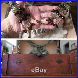 Antique bisque German dolls lot Kestner Limbach in wooden trunk with accessories