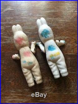 Antique design pottery bisque doll Easter Bunny
