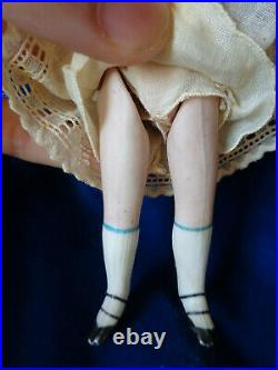 Antique doll mignonette doll closed mouth cute dollhouse doll