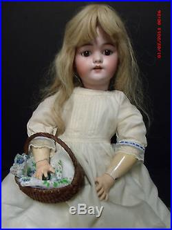 Beautiful, Antique #1079 Simon & Halbig Bisque Headed Doll. 26 Inches Tall