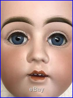 BEAUTIFUL LARGE ANTIQUE EARLY KESTNER GERMAN BISQUE DOLL HEAD No Mold Number