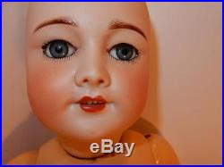Bebe Tete Jumeau Pull String Talking Orginal Body Antique French Bisque Doll