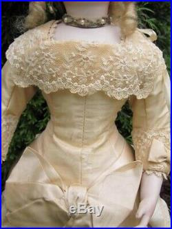 Beautiful! 16 Bru Smiler Antique Reproduction Bisque Doll By Shirley Antoon