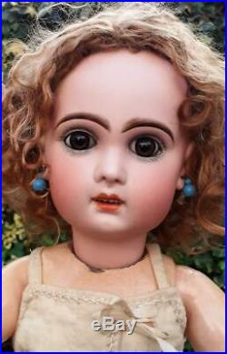 Beautiful 20 Bebe Tete Jumeau Doll with open Mouth size 9 c1890