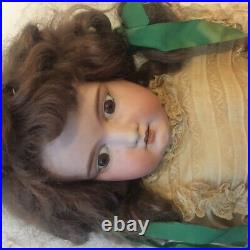 Beautiful 28 Antique German Bisque Doll, Good Shape, Full Clothes. $150