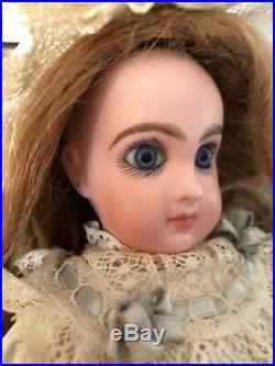 Beautiful Jumeau Antique 9 1/2 Inch Bisque Head French Girl Doll