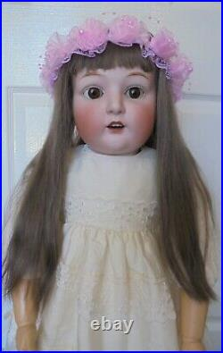 Beautiful Large Size 32 Inch Gebruder Heubach Mold 10586 Character Girl