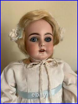 Beautiful rare Kestner 149 17.5 cabinet size doll. Bisque head, composition bod