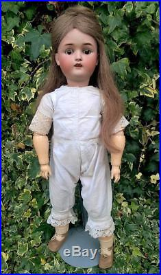 Beautifully Dressed Antique Kestner 168 Bisque Head Child Doll 23 Germany 1900s