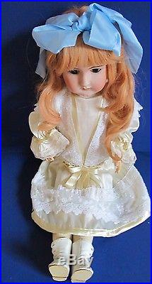 Beauty! 1885, Antique Heinrich Handwerck Doll 25 Red Hair Wig, Flawless Bisque