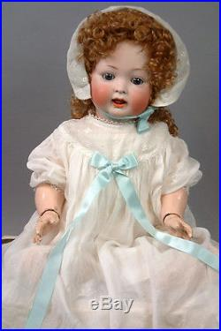 Big & Precious Kley & Hahn 167 Character Antique Bisque Doll with Big Blue Eyes