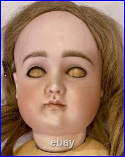 C1890 20 Antique German Bisque Doll Closed Mouth Extreme Pouty Kestner
