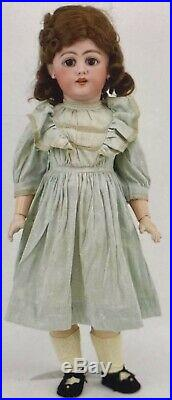 C1890 25 Simon Halbig 1009 German Bisque Doll withGreat Outfit & Human Hair Wig