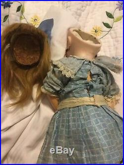 Cute! Cabinet Size Antique Bebe Jumeau French Doll 14