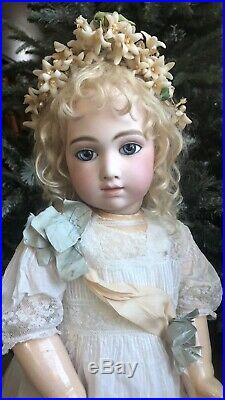 DREAMY! 28 Inch RARE Antique A. T. ANDRE THUILLIER Size 12 French Bebe Doll