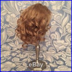 Dk Ash Blonde Antique Mohair Doll Wig 4 French or German Bisque 8.5 -9.75 HC