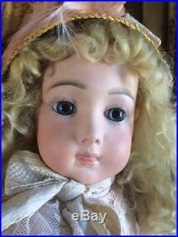 Exquisite Rare Antique French Jumeau Doll Triste Cody Bisque Free World Shipping